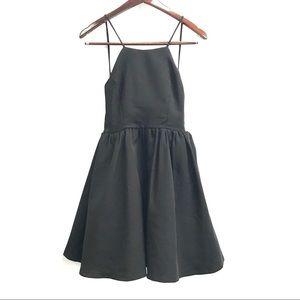NWT Lulu's Open Back High Neck Full Skirt Dress
